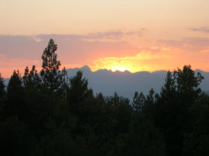 Sunset in the Trinity Alps